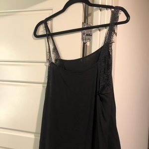 Free People Black Lace Top. M